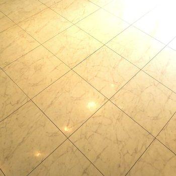 床は大理石調