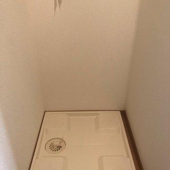 玄関横に洗濯機置き場があります!目隠ししましょう※写真は同じ階の105号室のものです