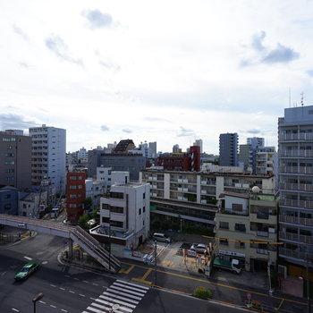 ※写真は7階の別部屋からの眺め