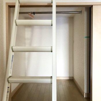 はしご側もしっかりと収納になってました。(※清掃前の写真です)
