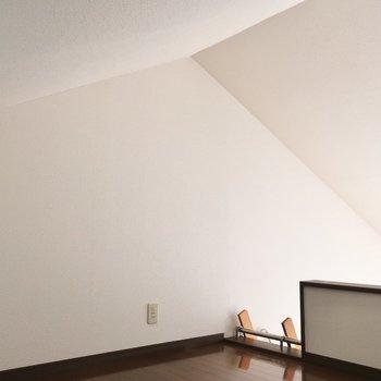 三角屋根の住人はわたし※写真は2階の反転間取り別部屋、モデルルームのものです