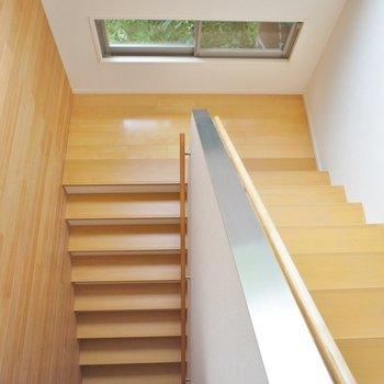 階段を下がって
