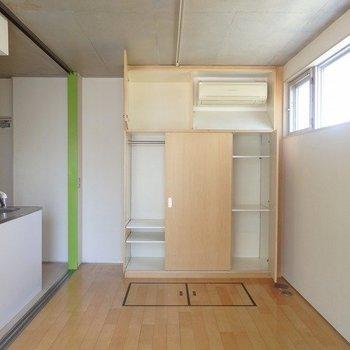 収納いい感じ・・・※写真は2階の同じ間取りの別部屋です。