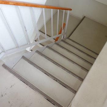 この階段で5階まで。