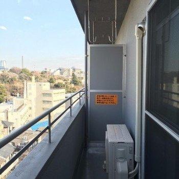 物干し竿が2本設置可です※写真は9階の同じ間取りの別部屋