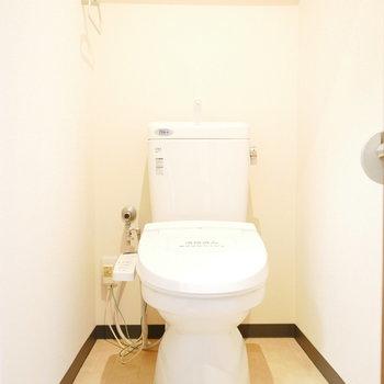 シンプルな形のトイレ