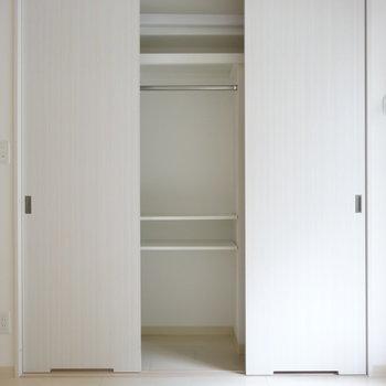 洋室の収納。扉3枚分がっつりあります※写真は類似間取り別部屋です。