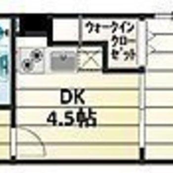 ゆったりお料理できる1DK※写真は同間取り別部屋のものです。