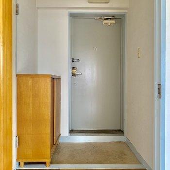 玄関のレトロさがまたいい・・※写真は通電前のものです