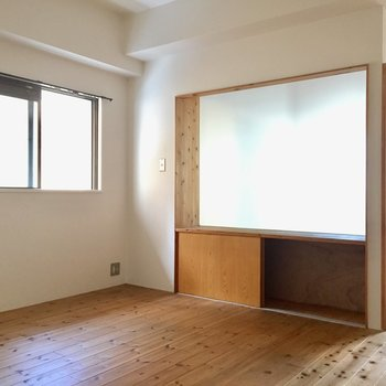 角部屋だからこちらにも窓。