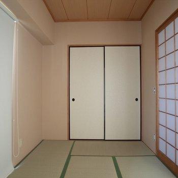 和室は落ちつく空間。(※写真は6階の同間取り別部屋のものです)