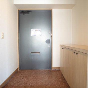 玄関も広い!(※写真は6階の同間取り別部屋のものです)