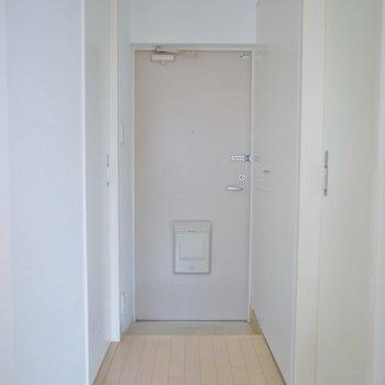 玄関はこちらです