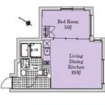 寝食を分けられる1LDKのお部屋です。