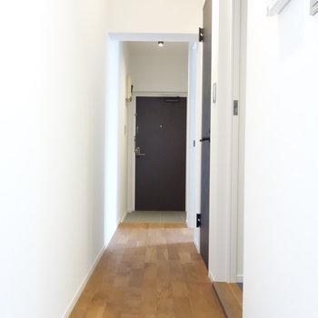 ながーい廊下。