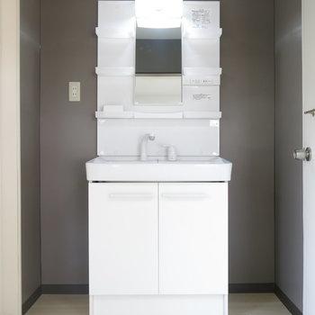 洗面台は大きめで使いやすそう〜!