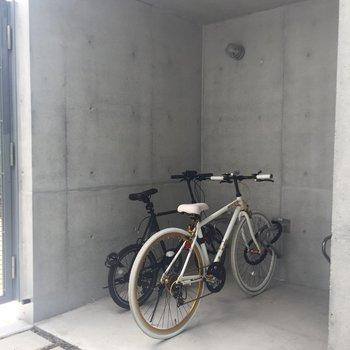 駐輪場もありました!