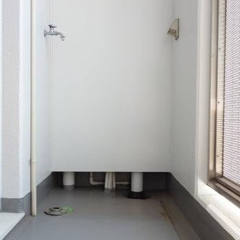 バルコニーです。ここに洗濯機置場あります。