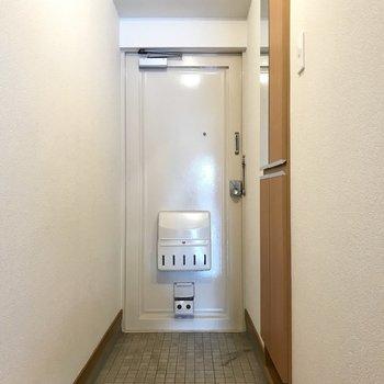 レトロな玄関扉、きゅんとしちゃう。 (※写真は清掃前のものです)