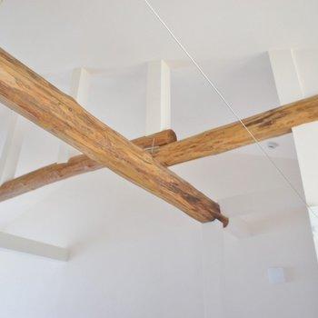 天井の木がアクセントです