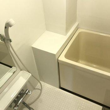 お風呂はコンパクトサイズです。