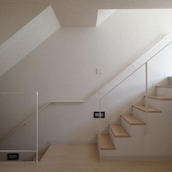 階段のあるお部屋は楽しそうだ。*写真は1階の別部屋似た間取り