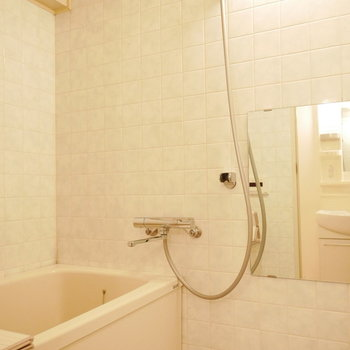浴室は少しレトロなままだけどきれいです