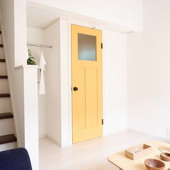 黄色い扉が可愛い♪とにかく可愛い♪