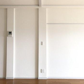 真っ白な壁が爽やか