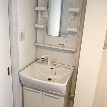洗面台の収納もばっちり!