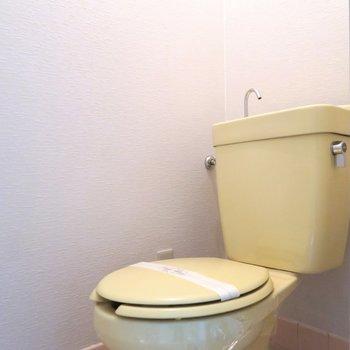 トイレはシンプルなタイプ