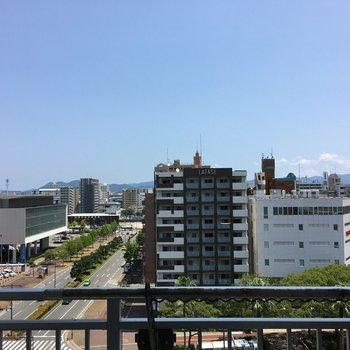 眺望は都会を感じます。