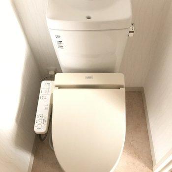 トイレも個室で綺麗でした※2階の同じ間取りの別部屋の写真