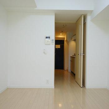 この四角形が使いやすいポイントですよね。※4階の同じ間取りの別部屋の写真