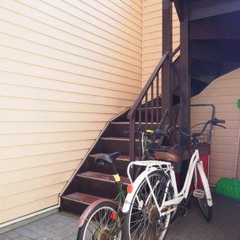 自転車は中に置けます※写真は別室です