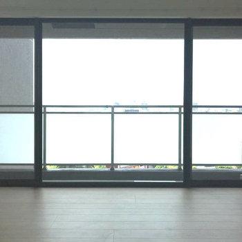 リビングの窓は大きくて開放感たっぷり!