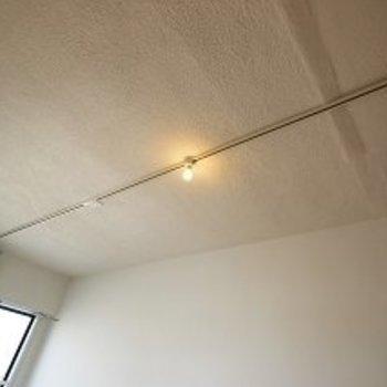 天井にはライティングレールも。