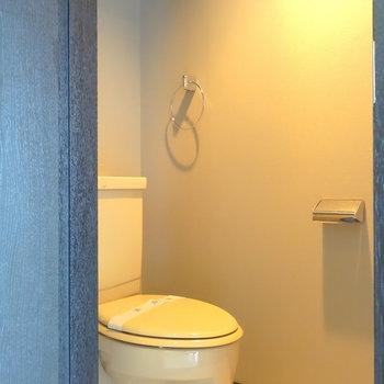 トイレには上部棚もありますよ。