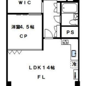 シンプルな1LDKのお部屋です