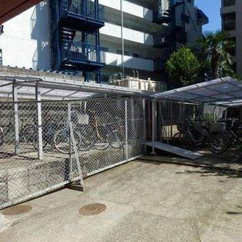 自転車置き場も立派。