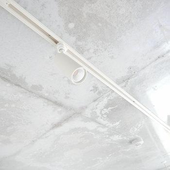 照明はライトレールですね。天井が光ってる! ※2階同間取り別部屋の写真です