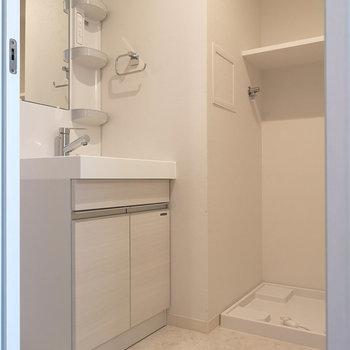 脱衣所です。 ※写真と文章は4階同間取り別部屋のものです