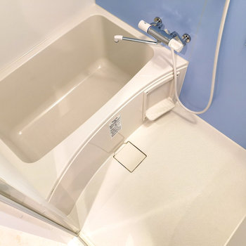 浴室乾燥機能ついていますよ。※写真と文章は4階同間取り別部屋のものです