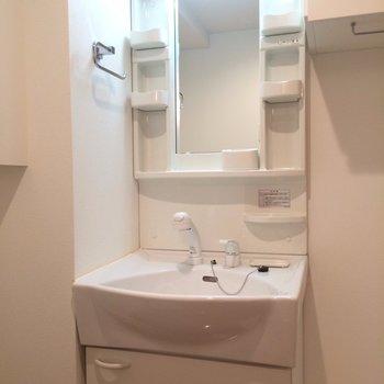 使い勝手便利な独立洗面台※写真は2階の同間取り別部屋のものです。