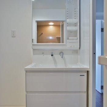 洗面所の広さは普通サイズ