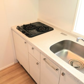 キッチンは作業スペースもシンクも合格店。