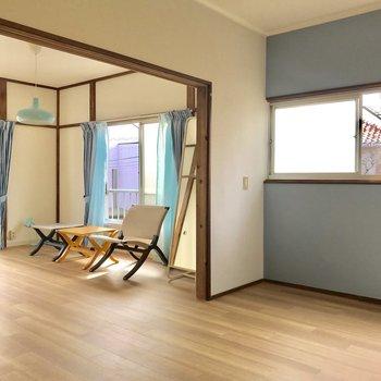 仕切りが広いから開放感があります※家具はサンプルです