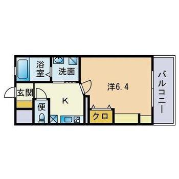 シンプルな1Kのお部屋です♪