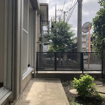 1階部分のお庭