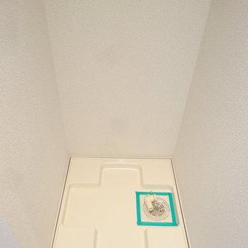 洗濯パンも室内にしっかりと。※写真は別室反転です